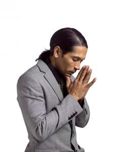 praying businessman